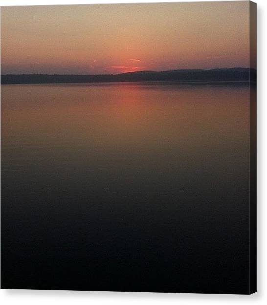 Lake Sunrises Canvas Print - #lake #water #sunrise #maine #ink361 by H Mackenzie