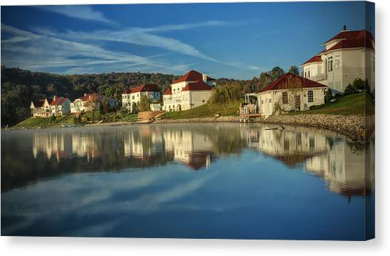 Lake White Morning Canvas Print