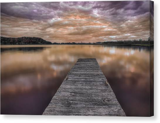 Lake White Twilight Canvas Print