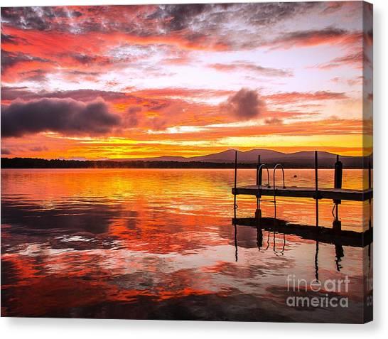 Lake Winnisquam Sunrise Canvas Print