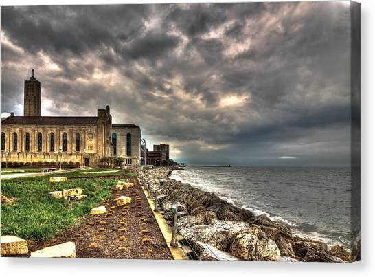 Loyola University Chicago Canvas Print - Lakefront Chapel by Greg Thiemeyer