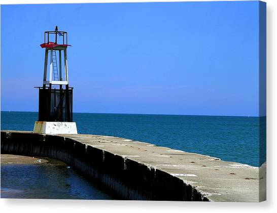 Lakefront Pier Tower Canvas Print