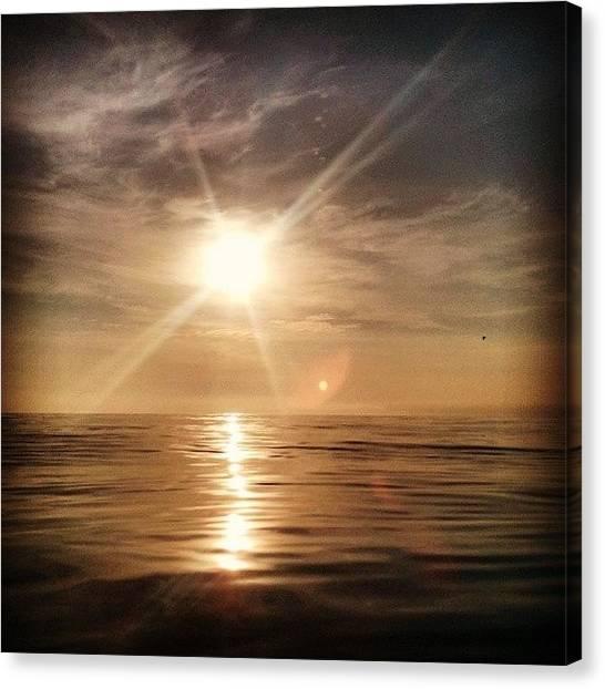 Lake Sunrises Canvas Print - #lakemichigan  #sunrise #water #lake by Erin Britton