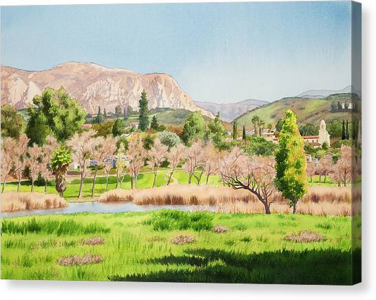 Mission Canvas Print - Lakeside California by Mary Helmreich