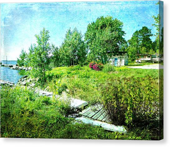 Lakeside Charm Canvas Print by Dianne  Lacourciere