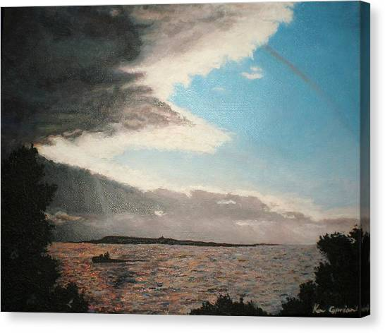Lakeside Canvas Print by Kim Cyprian