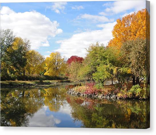 Lakeside Park Canvas Print