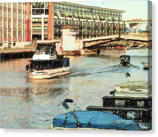 Lakeside Spirit Canvas Print by David Blank