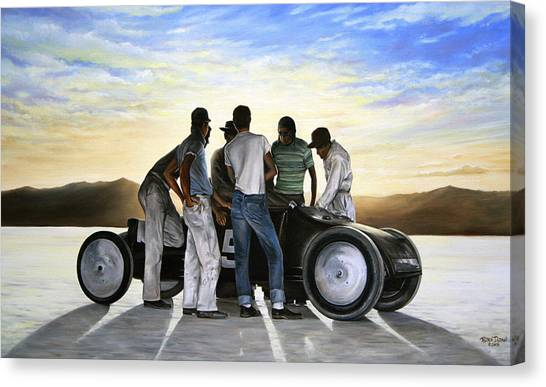 Car Canvas Print - Lakester At Dawn by Ruben Duran