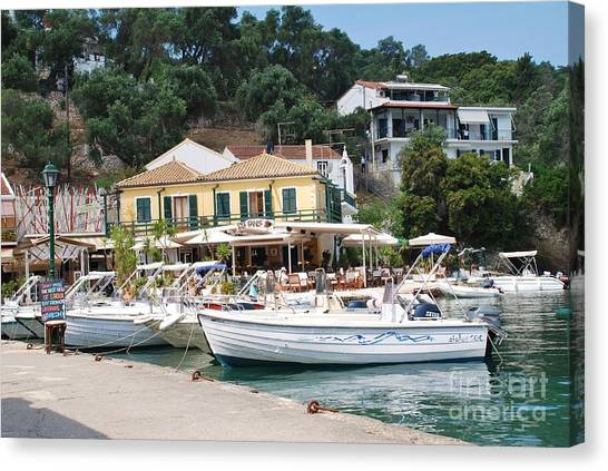 Lakka Harbour On Paxos Canvas Print
