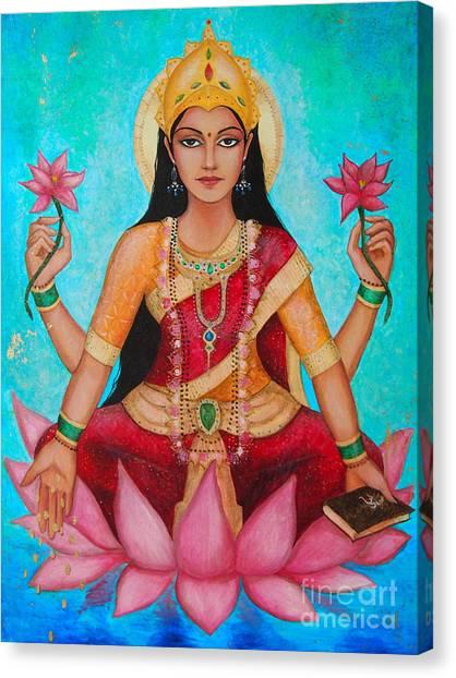 Hindu Goddess Canvas Print - Lakshmi by Dori Hartley
