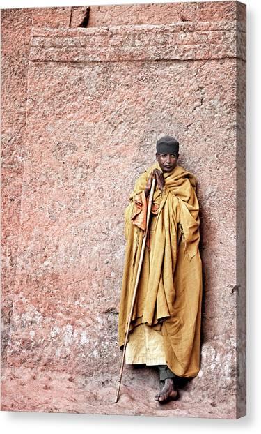 Monks Canvas Print - Lalibela Monk by Trevor Cole