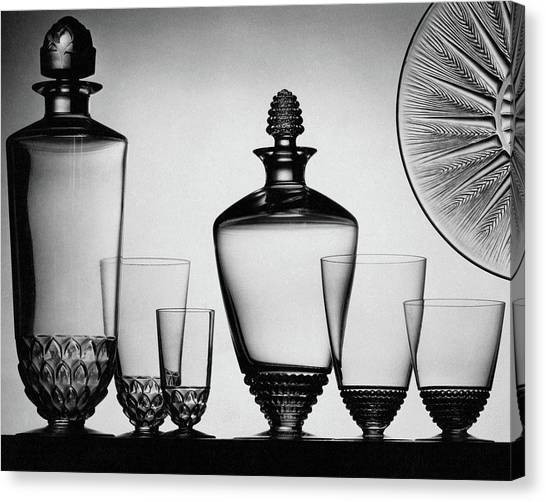 Decanter Canvas Print - Lalique Glassware by The 3