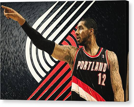 Western Conference Canvas Print - Lamarcus Aldridge by Taylan Apukovska
