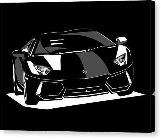 Race Cars Canvas Print - Lamborghini Aventador by Michael Tompsett