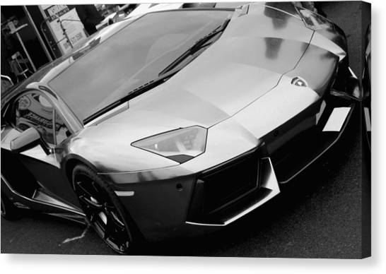 Black And White Shine Canvas Print