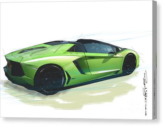 Lamborghini Aventador Roadster Digital Art By Roger Lighterness