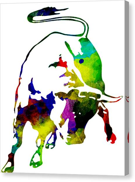 Lamborghini Bull Emblem Colorful Abstract. Canvas Print