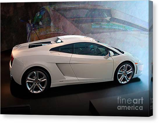 Lamborghini Gallardo Lp550-2 Side View Canvas Print