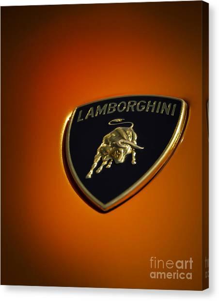 Lamborghini Murcielago Badge Emblem Canvas Print