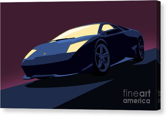 Andy Warhol Canvas Print - Lamborghini Murcielago - Pop Art by Pixel  Chimp