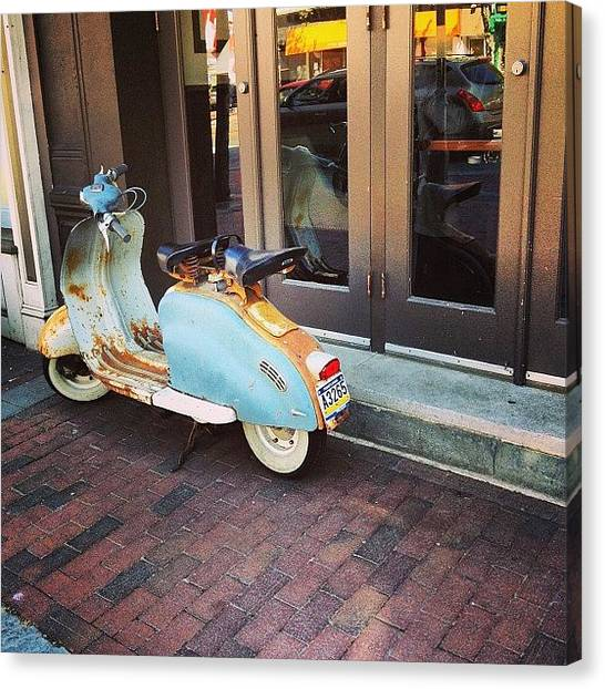 Philadelphia Canvas Print - #lambretta On The Streets Of by Raffaele Felaco