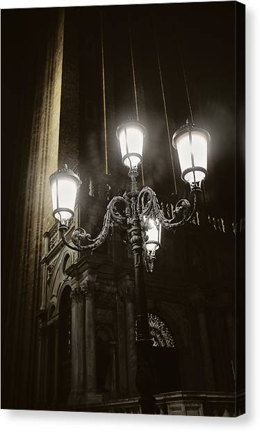 Lamp Light St Mark's Square Canvas Print
