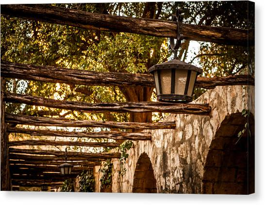 Lamps At The Alamo Canvas Print