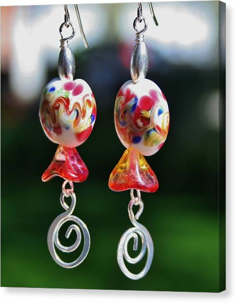 Lampwork Buds Canvas Print