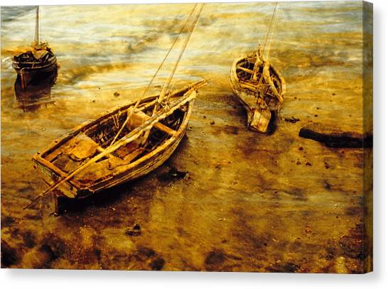 Lamu Dhows Canvas Print