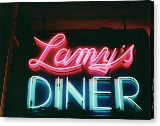 Lamys Diner Canvas Print