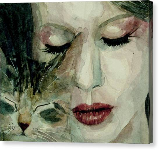 Singer Canvas Print - Lana Del Rey And A Friend  by Paul Lovering