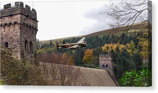 Lancaster Kc-a At The Derwent Dam Canvas Print