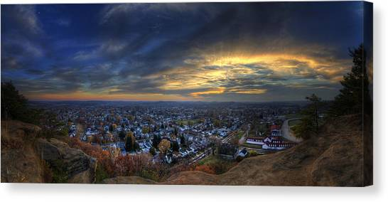 Lancaster Ohio Panorama Canvas Print