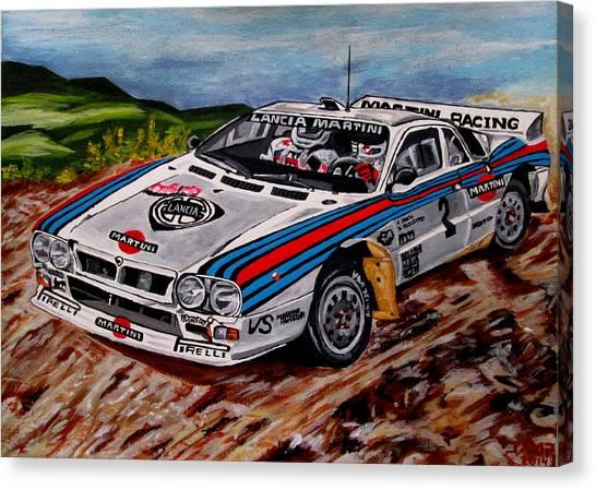 Lancia 037 Canvas Print by Jose Mendez