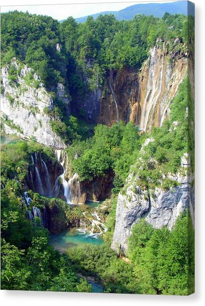 Land Of Falling Lakes Canvas Print