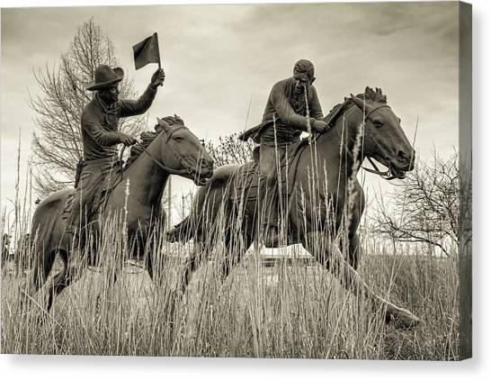 Centennial Canvas Print - Land Run by Ricky Barnard