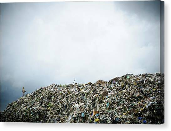 South Asia Canvas Print - Landfill by Matthew Oldfield