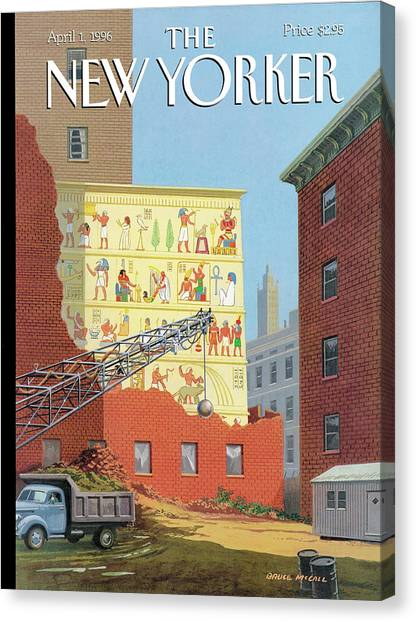 Landmarks Commission To Meet In Special Session Canvas Print by Bruce McCall