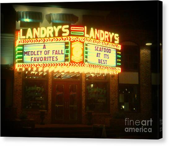 Landry's Seafood In Lomoish Canvas Print