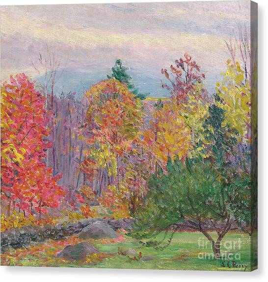 New Hampshire Canvas Print - Landscape At Hancock In New Hampshire by Lilla Cabot Perry