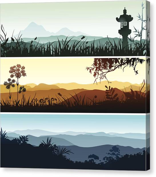 Landscape Banners Canvas Print by Bettafish