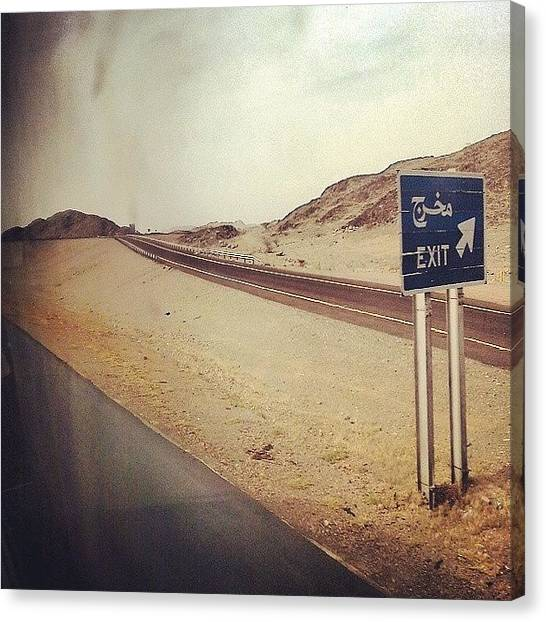 Sahara Desert Canvas Print - #landscape #desert #sand #exit #travel by Mohamed Elkhamisy