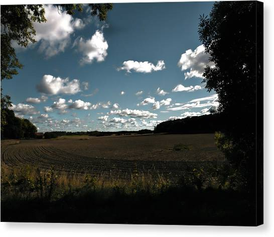 Canvas Print featuring the photograph landscape Enkoepingsnaes by Leif Sohlman