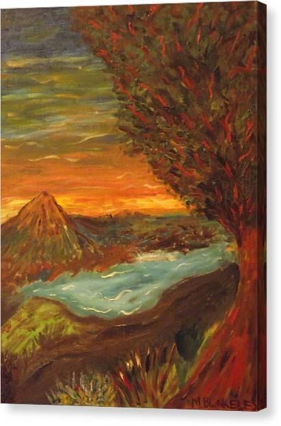 Landscape In Portrait Canvas Print