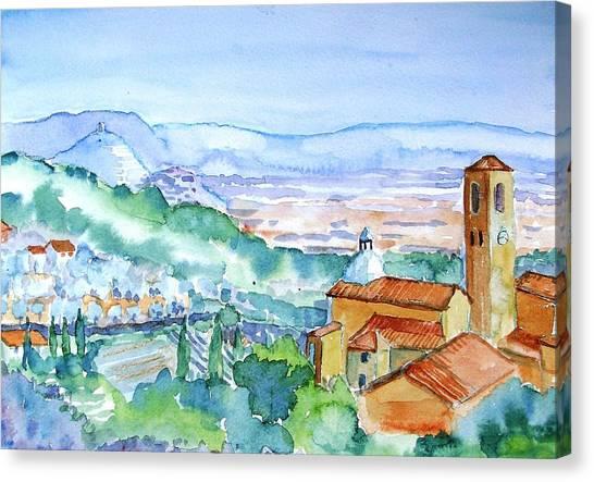 Tuscany Valley  Medieval Village Of Massa Canvas Print