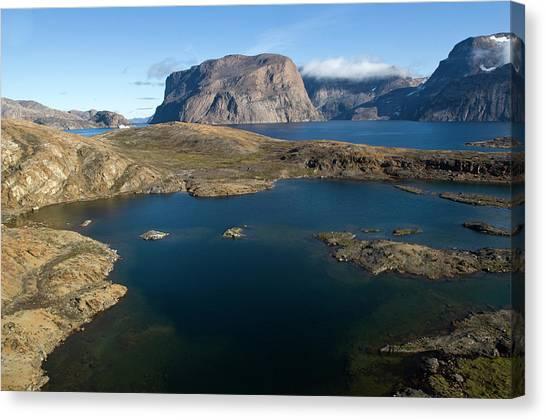 Ocean Cliffs Canvas Print - Landscape, Long Island, Greenland by Daisy Gilardini