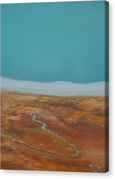 Landscape Of A Hot Spring Canvas Print by Sarah Crites