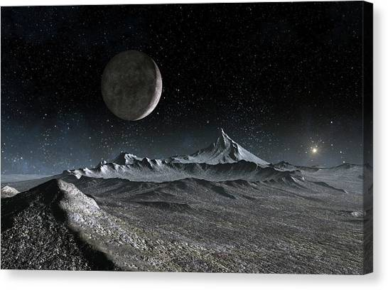 Pluto Canvas Print - Landscape Of Pluto by Take 27 Ltd