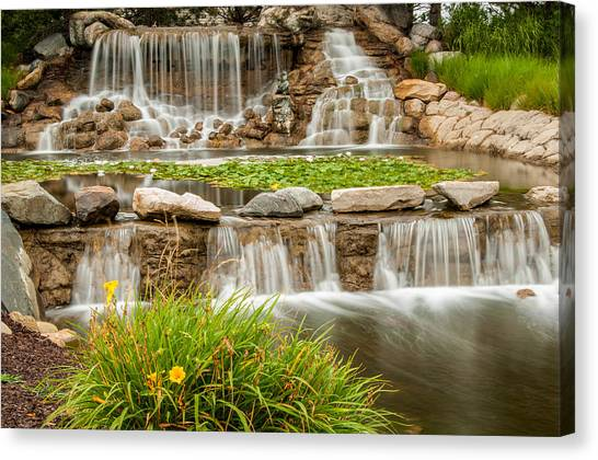 Landscape Waterfall Canvas Print
